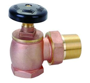 Heavy Pattern Brass Angle Radiator Valve