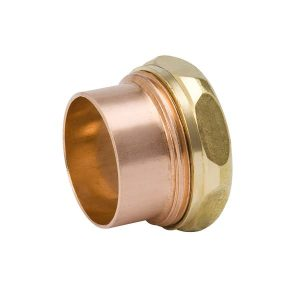 1-1/2'' Wrot Copper & Cast Brass DWV Trap Adapter FTG x SJ