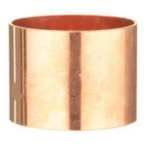 1-1/2'' Wrot Copper DWV Coupling No Stop C x C