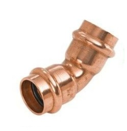 1-1/2'' Wrot Copper Press 45° Elbow P x P